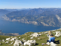 From Malcesine to Monte Baldo with the cableway
